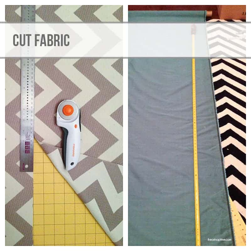 cutting fabric - DIY curtains