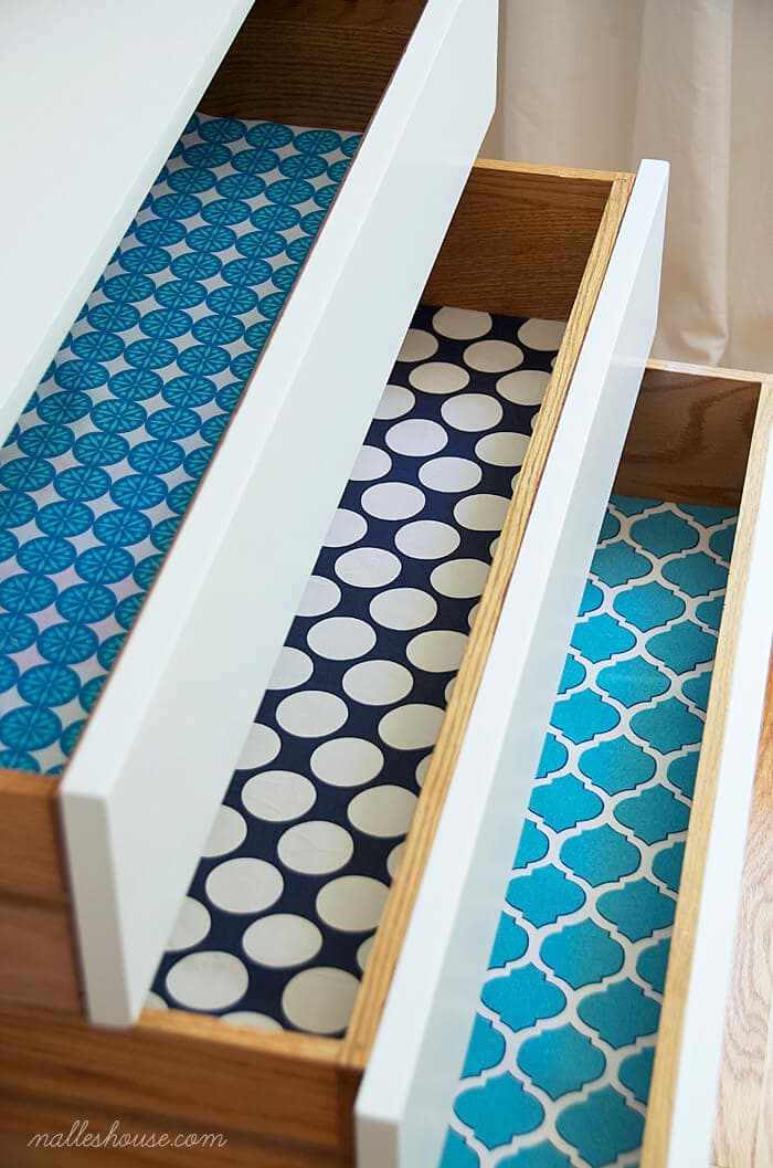 diy fabric drawer liners 1