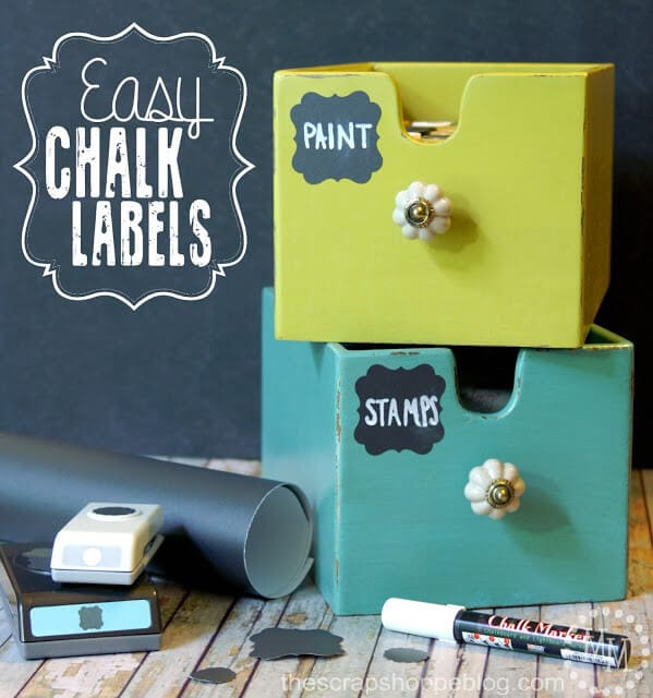 easy chalkpaint labels