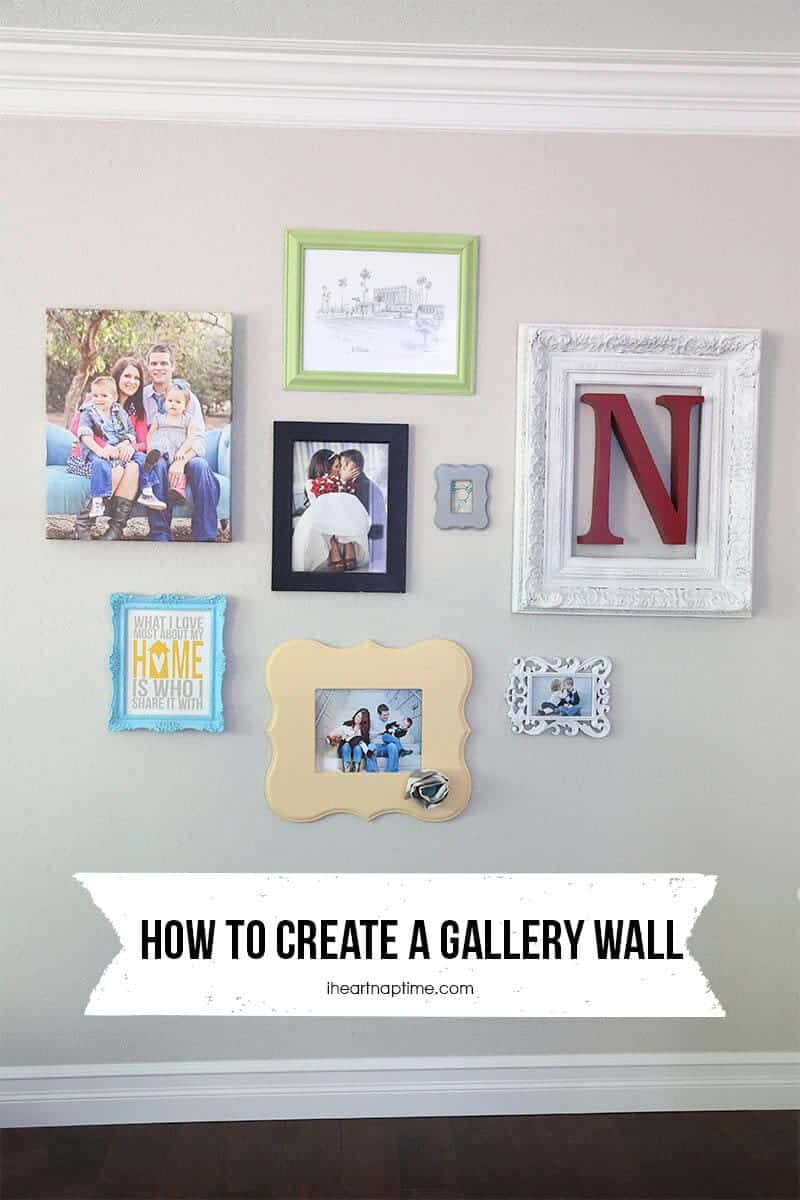 how to make a gallery wall i heart nap time. Black Bedroom Furniture Sets. Home Design Ideas