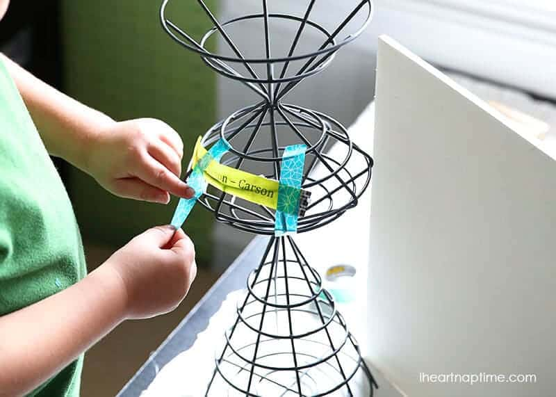 kids washi tape craft