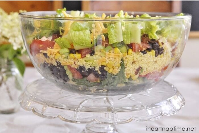 Southwest cornbread salad ...fun twist on the cob salad!