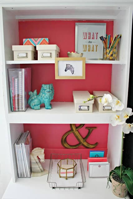 pink and white cabinet