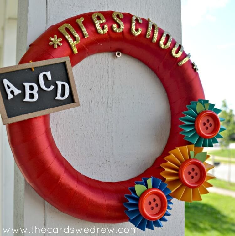 preschool ABC Chalkboard Wreath