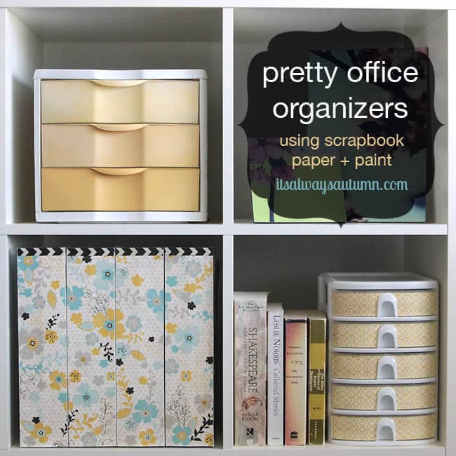 pretty office supplies DIY
