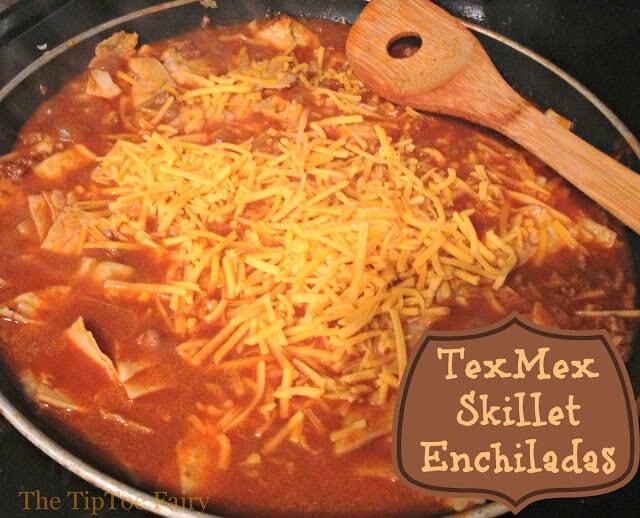 tex mex skillet enchiladas