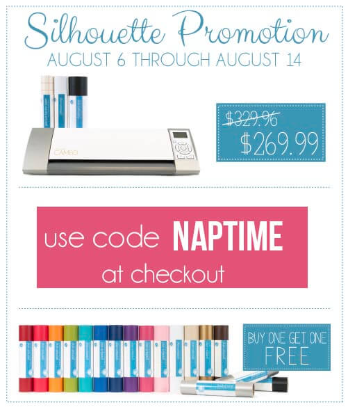 Vinyl Promo And Silhouette Cameo Giveaway I Heart Nap Time