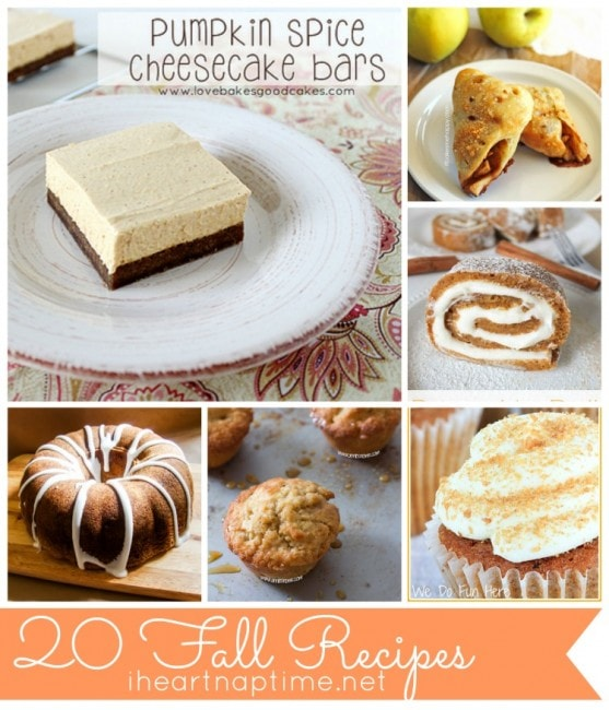 20 fall recipes on iheartnaptime.com