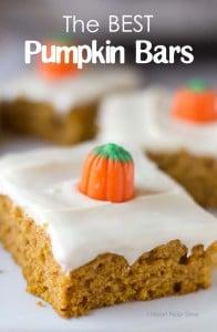 The BEST pumpkin bars!