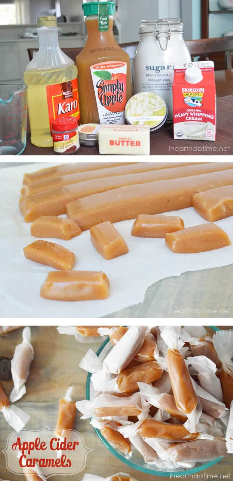 Apple Cider Caramels ...the perfect fall treat!