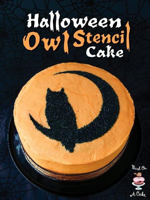 Halloween Owl Stencil Cake Title Final 3