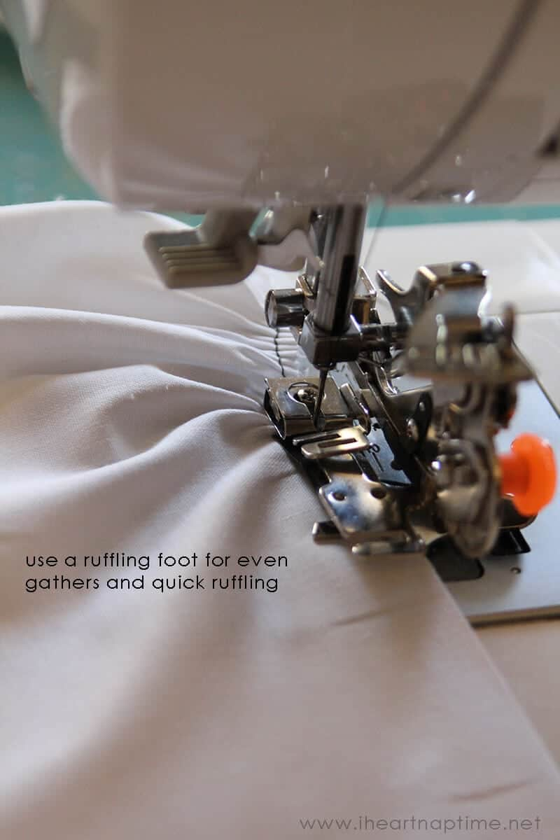 How To Sew A Ruffle Four Methods I Heart Nap Time Sewing Machine Threading Diagram Pinterest