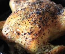 One Hour Roasted Chicken