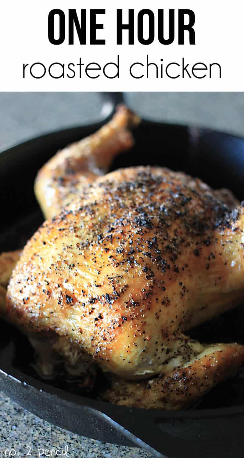 Learn how to roast a chicken in one hour!