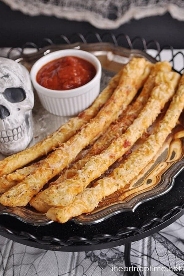 Bony Halloween Breadsticks