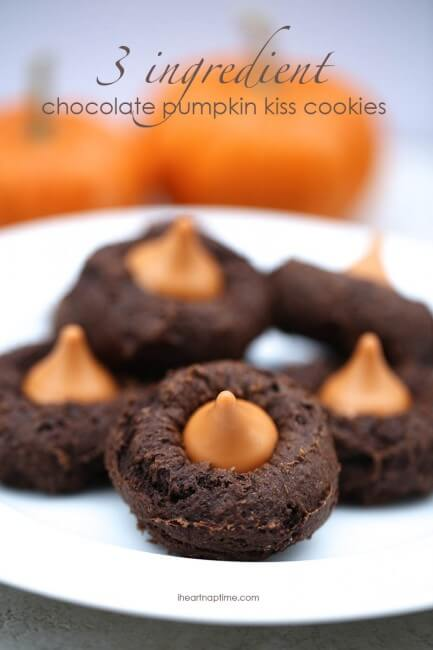 chocolate pumpkin kiss cookies recipe