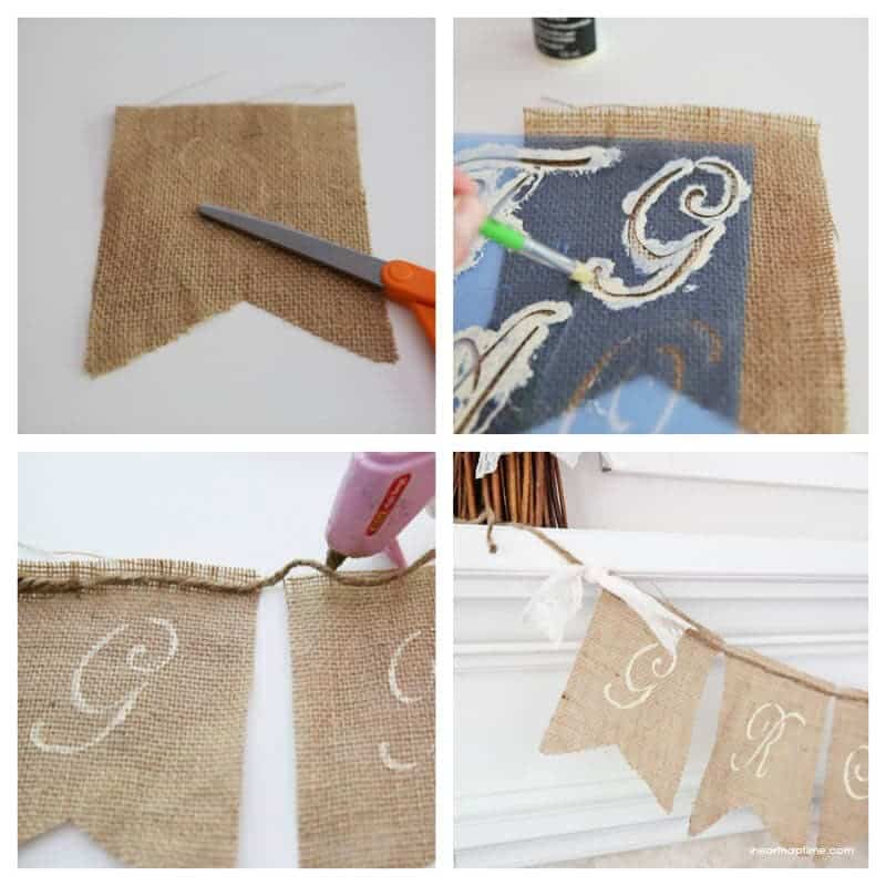 Fall Mantel And Burlap Banner Tutorial