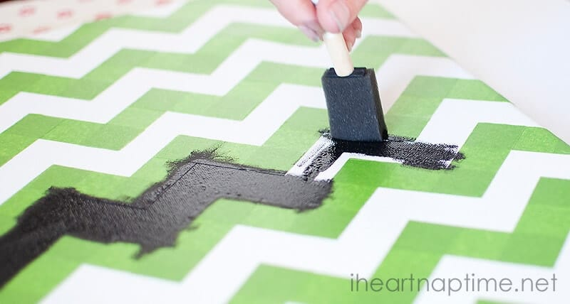 How To Paint Chevron Walls With Tape Wall Designs Enchanting How To Paint A Chevron Pattern