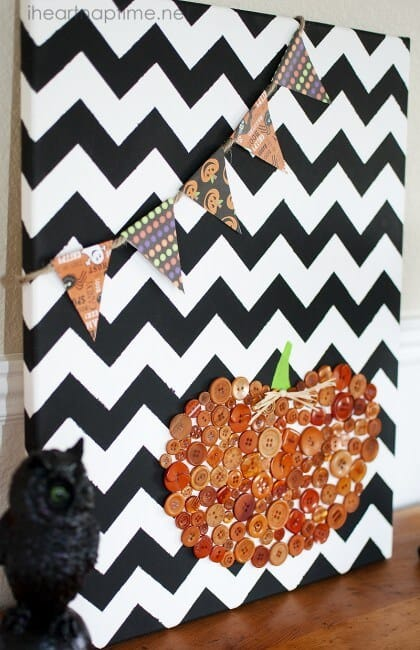 DIY Pumpkin Canvas Art