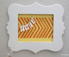 stenciled craft