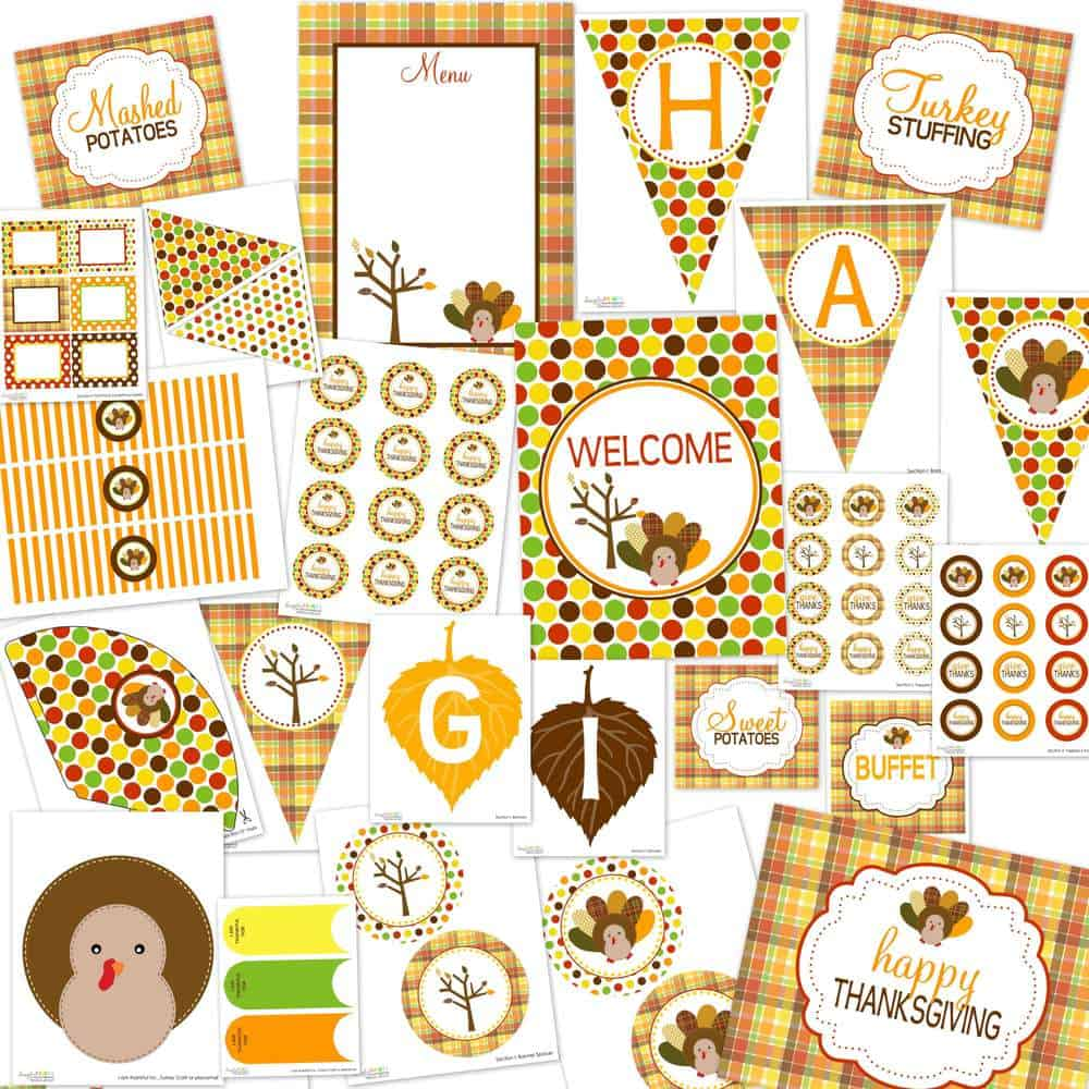 50 best thanksgiving printables 11 - Thanksgiving Pictures Printables