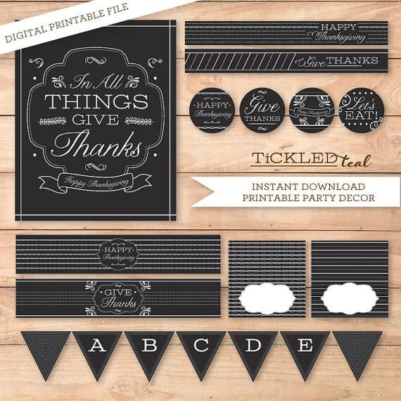 50 BEST Thanksgiving Printables 15