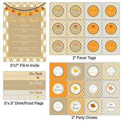50 BEST Thanksgiving Printables 37