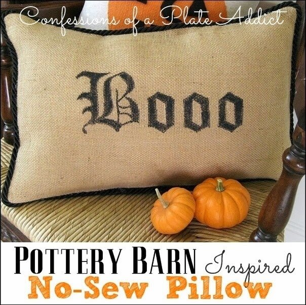 CONFESSIONS OF A PLATE ADDICT Pottery Barn Inspired No-Sew  Boo Pillow_thumb[3]