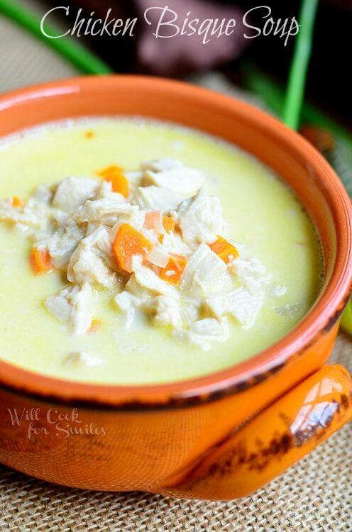Chicken-Bisque-Soup-©-willcookforsmiles.com-soup-chicken-bisque