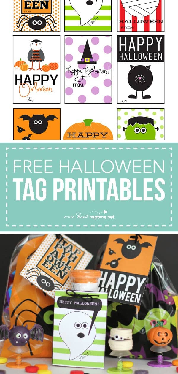 free happy halloween tag printables