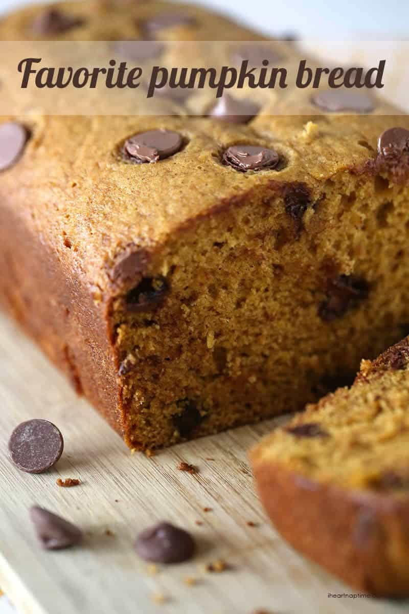 My absolute favorite pumpkin bread recipe on iheartnaptime.com #pumpkin #recipes