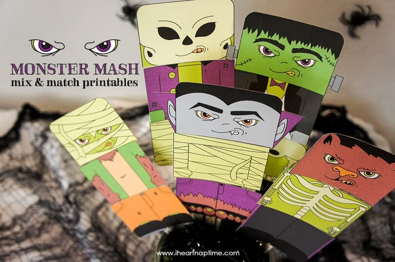 Monster Mash Mix and Match Printables