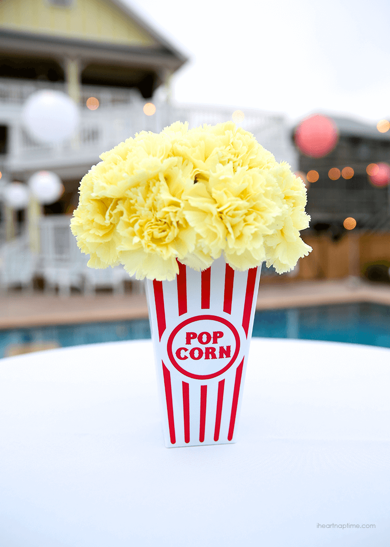 Popcorn flower centerpiece, photo by I Heart Nap Time