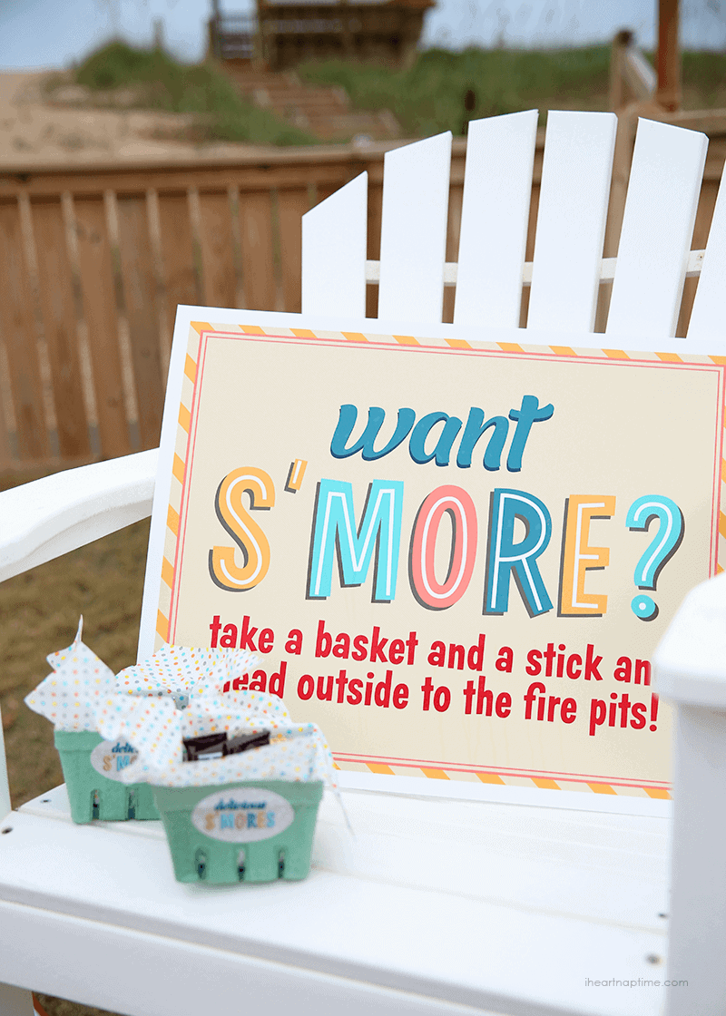 S'more party idea, photo by I Heart Nap Time