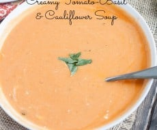 Tomato Basil Cauliflower Soup5