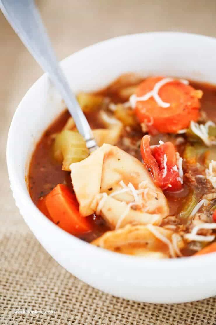 The best tortellini sausage soup