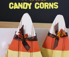 DIY wood candy corn