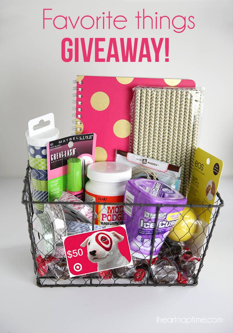 Favorite things giveaway on iheartnaptime.com