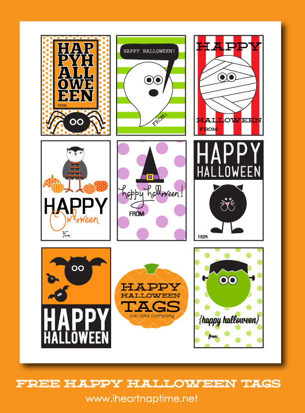 free halloween tags at iheartnaptime.net  sc 1 st  I Heart Naptime & Happy Halloween Tags free printable - I Heart Nap Time