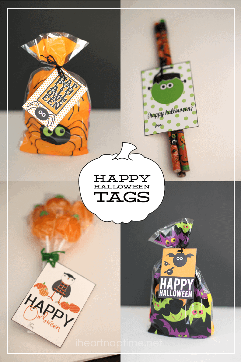 free halloween tags. 8 styles!