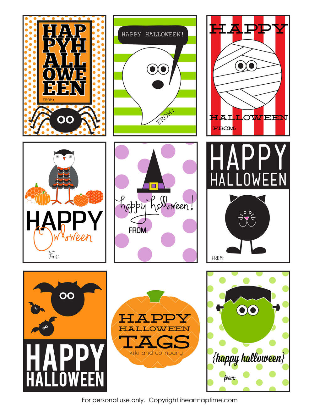 Crush image within free printable halloween gift tags