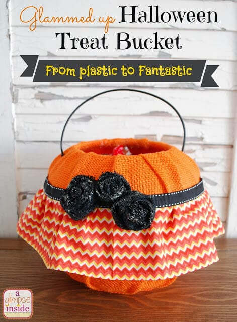 halloween treat bucket- labeled