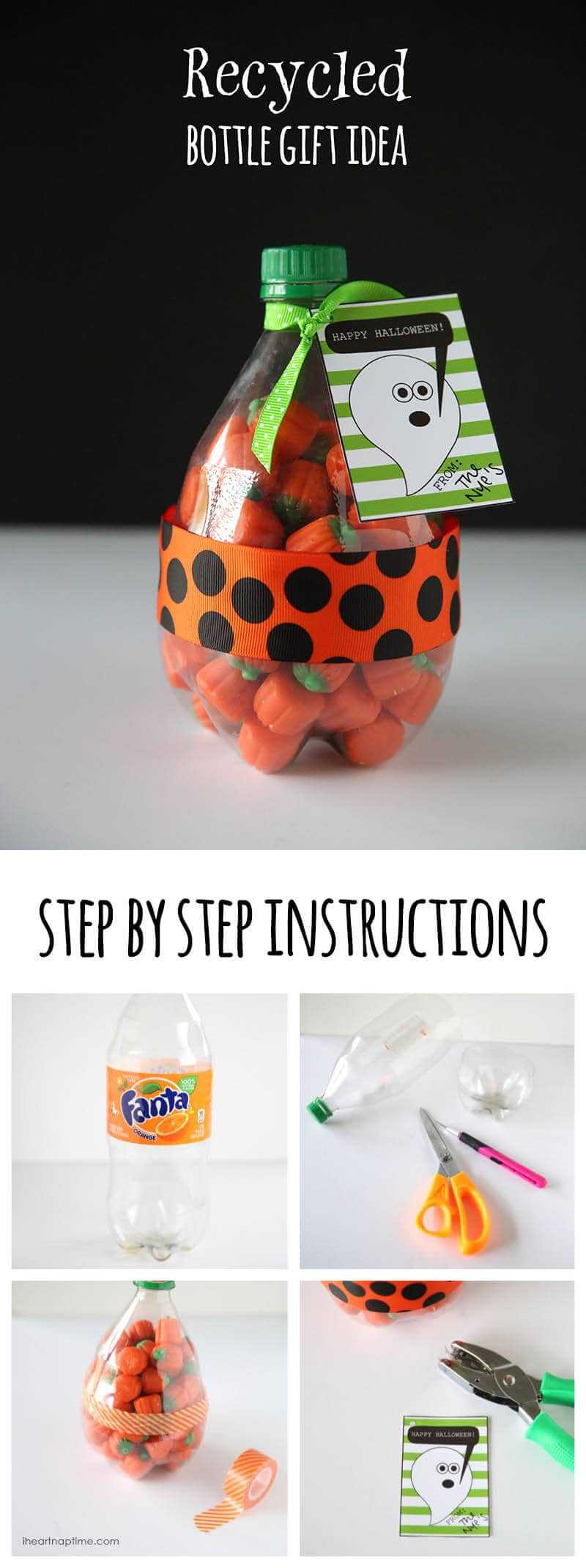 recycled bottle gift idea #DIY #crafts