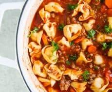 Favorite tortellini sausage soup recipe!