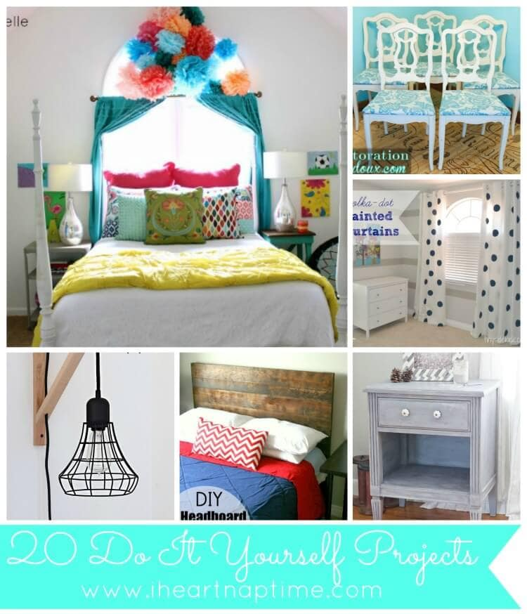 20 diy projects link party features i heart nap time. Black Bedroom Furniture Sets. Home Design Ideas