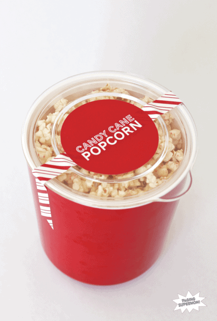 candy cane popcorn in a red carton