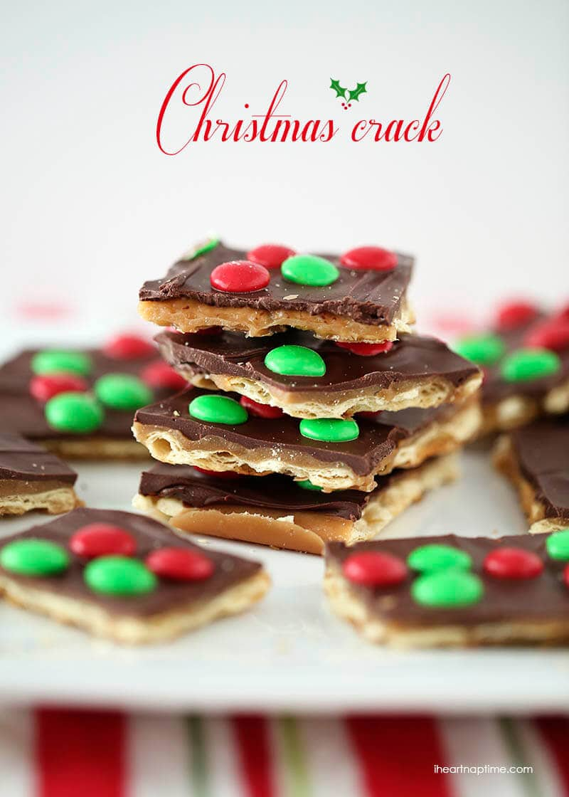 Christmas Crack saltine toffee on I Heart Nap Time