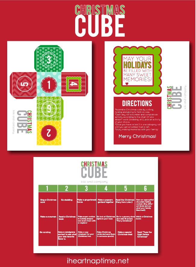 Christmas Cube Advent Free Printable