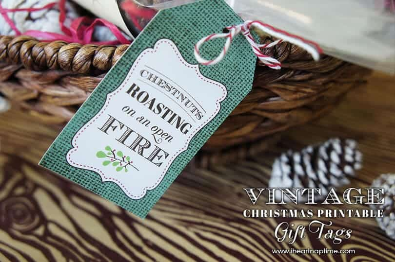Vintage Christmas Gift Idea with Free Printable