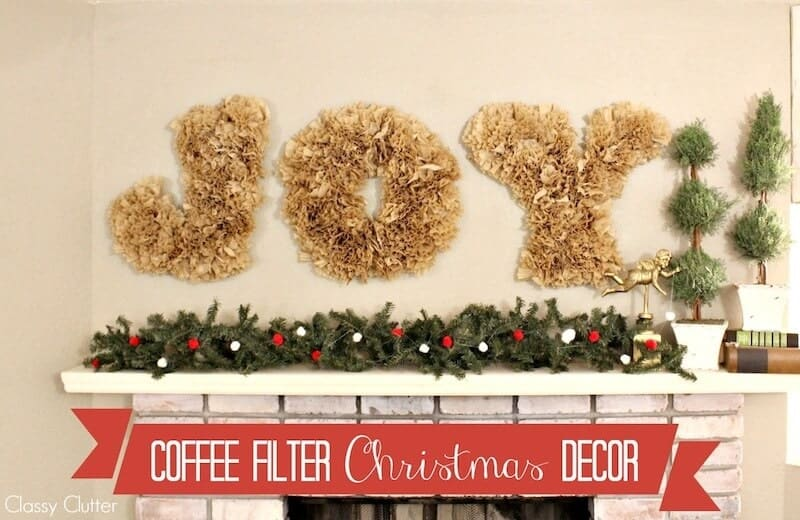 Christmas Decoration Ideas - Coffee filter decor